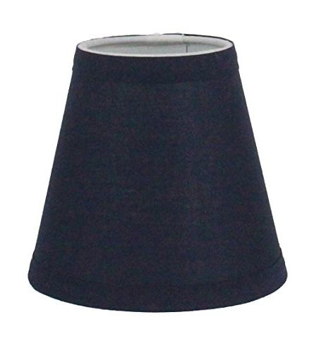 navy blue cotton chandelier lamp