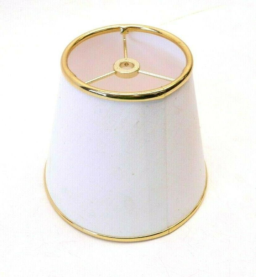 new white gold lamp shade fabric small