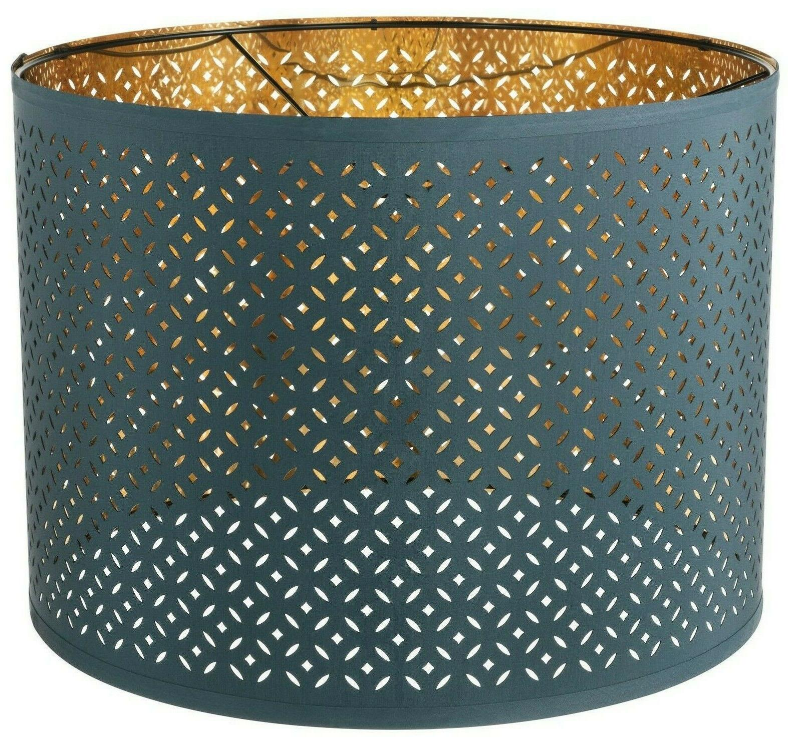 nymo blue and brass color 17 lamp