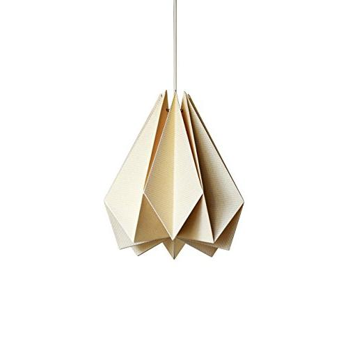 Brownfolds Paper Origami Lamp Shade; Bliss Pack Pearl