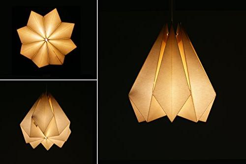 Brownfolds Paper Origami Shade; Vanilla