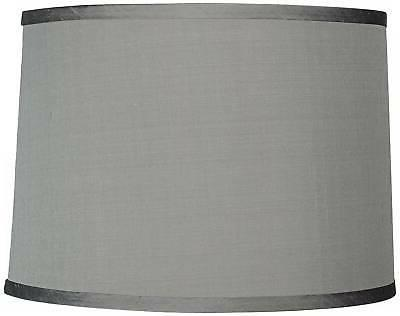 platinum gray dupioni silk lamp