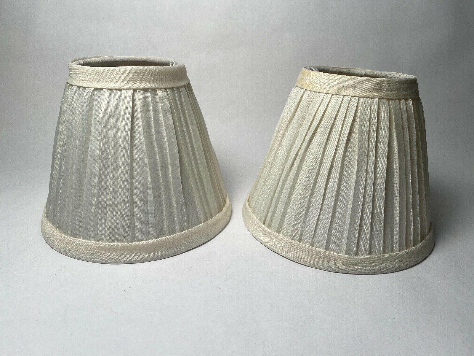 pleated cloth covered lamp shade