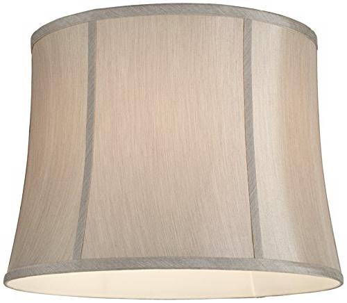 Round Gray Lamp Shade 14x16x12