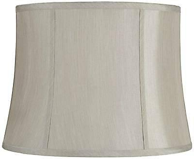 round softback gray lamp shade