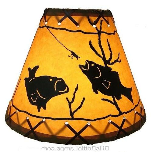 "Rustic ""Bulb Scene Table Desk LAMP SHADE Cottage Decor"