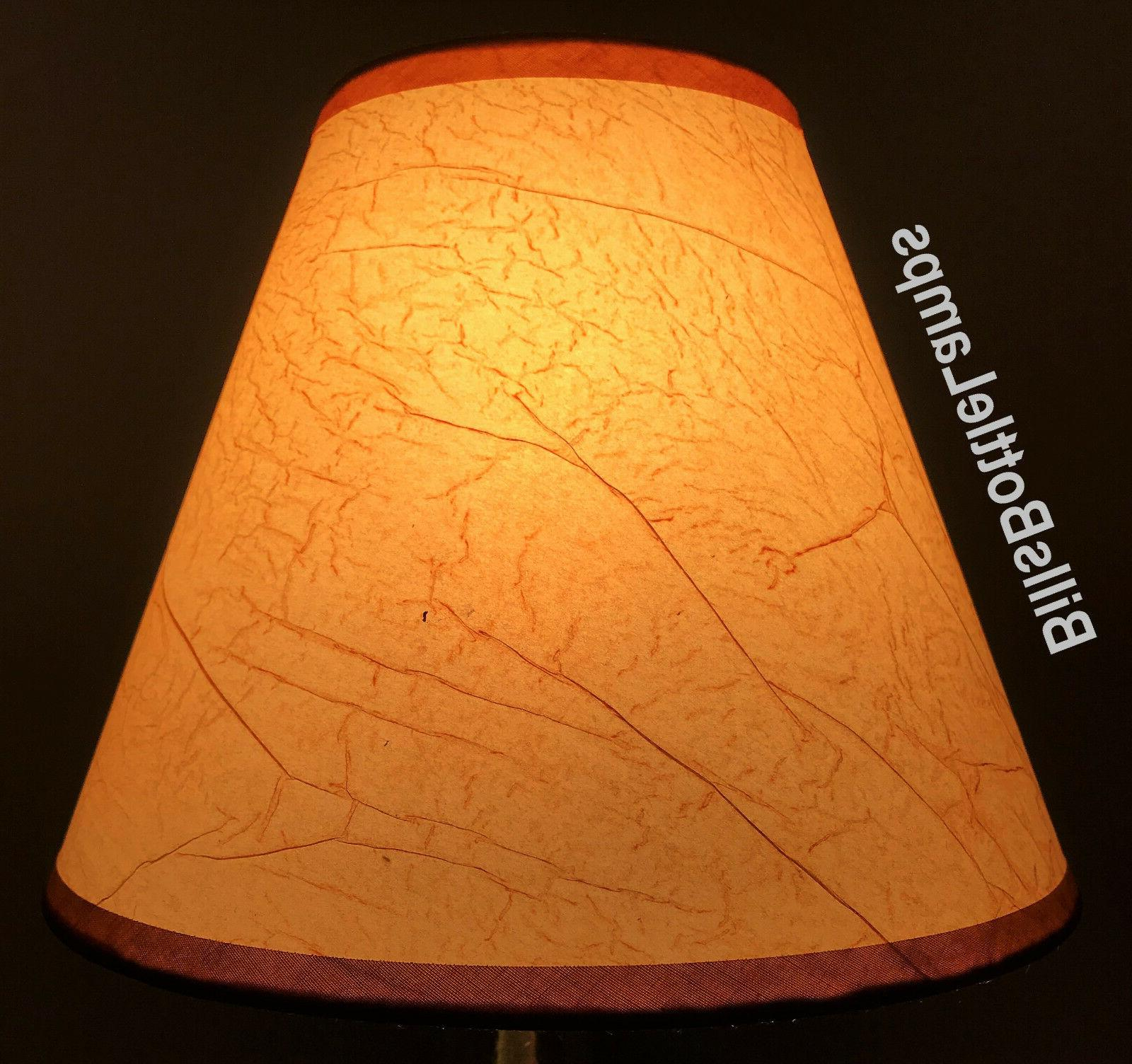 rustic cottage crackle table light lamp shade