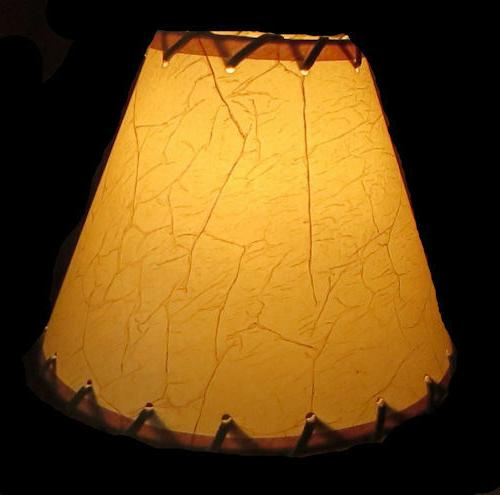 Rustic Table Light Clip-On Bulb Cone