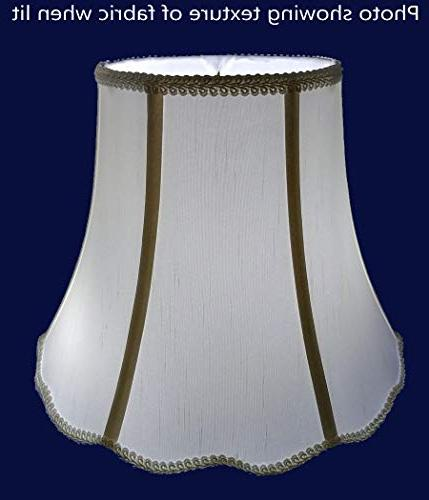 "American 5""x 10""x 8"" Scallop Soft Shantung Tailored Lampshade, Light"