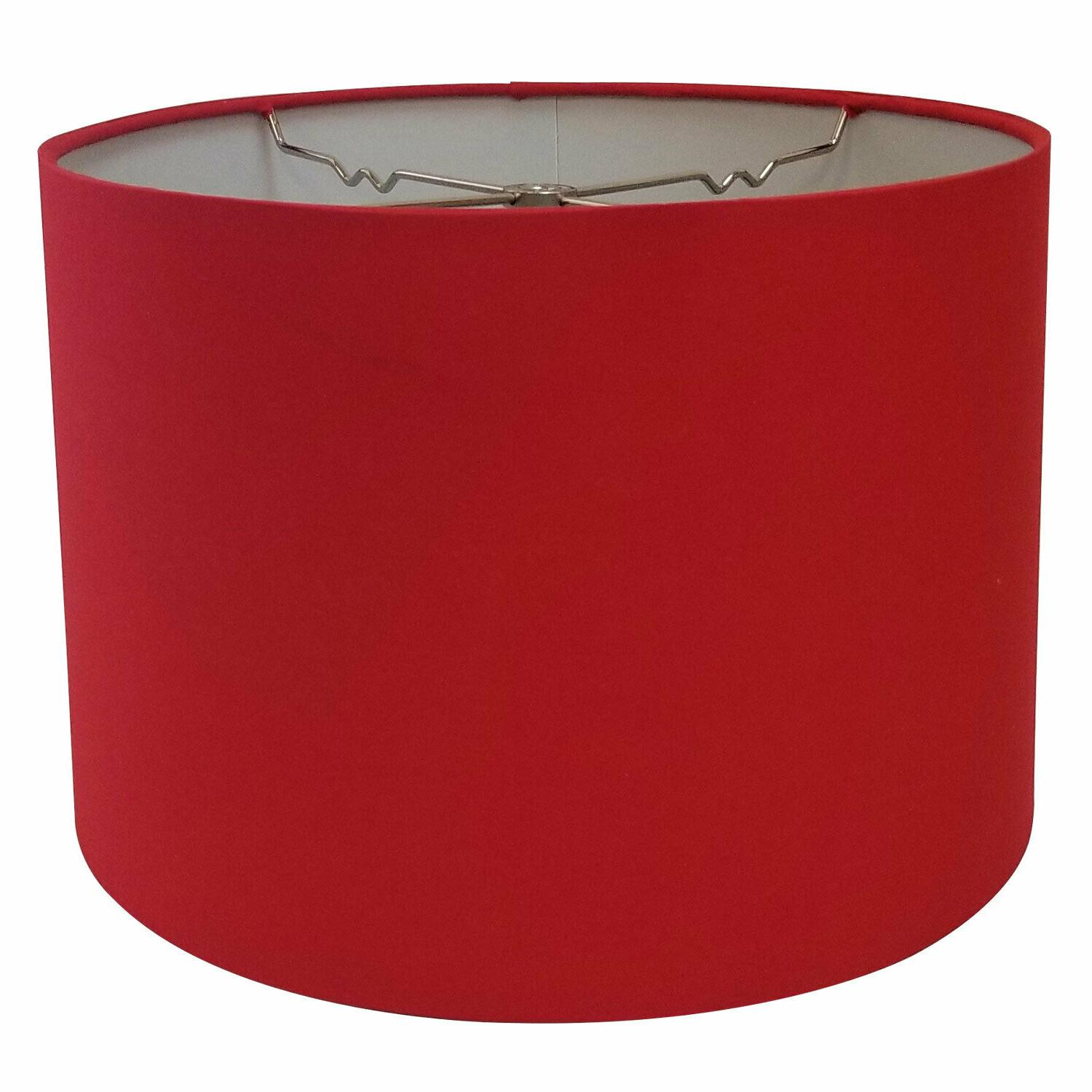 Shallow Drum Hardback Shade with Spider
