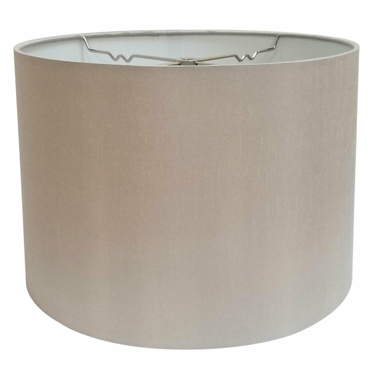 shallow drum hardback lamp shade with nickel