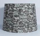 Urbanest Snakeskin Fabric Drum Lampshade, Spider Fitter