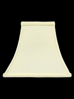 eggshell silk 10 inch square bell candle