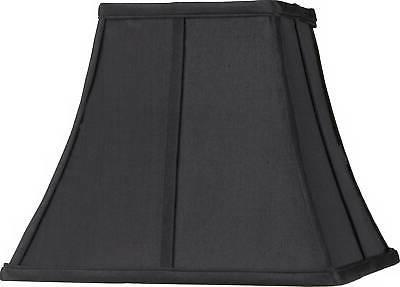 square curved black lamp shade