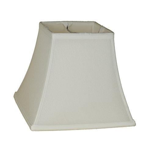 "Urbanest Square 5.25x9x8"" Bell Lampshade, White, Faux Spider"
