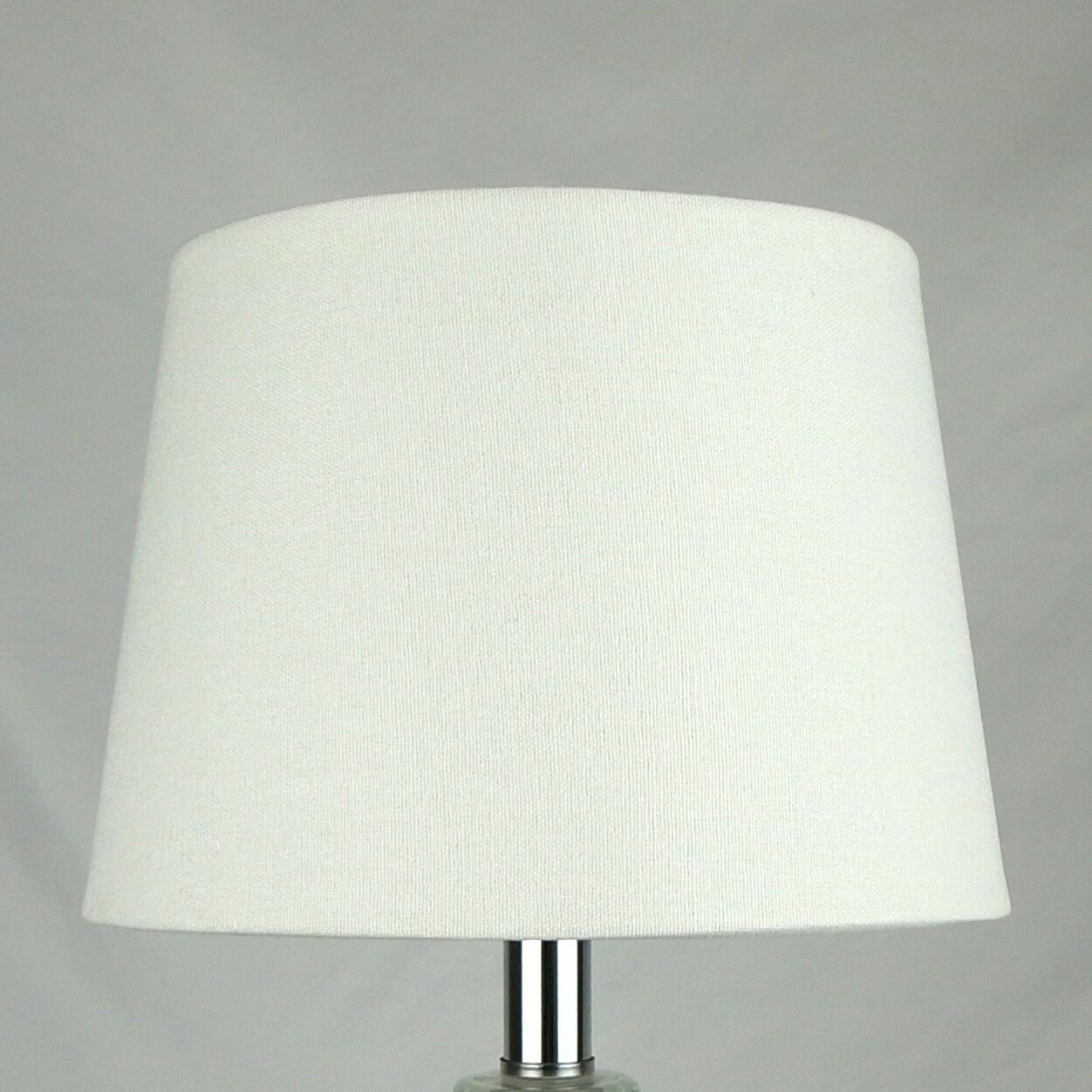"Uno Fitter Small Off White Fabric Lampshade 8"" x 10"" x 7"" fo"