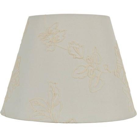 white embroidered hardback shade