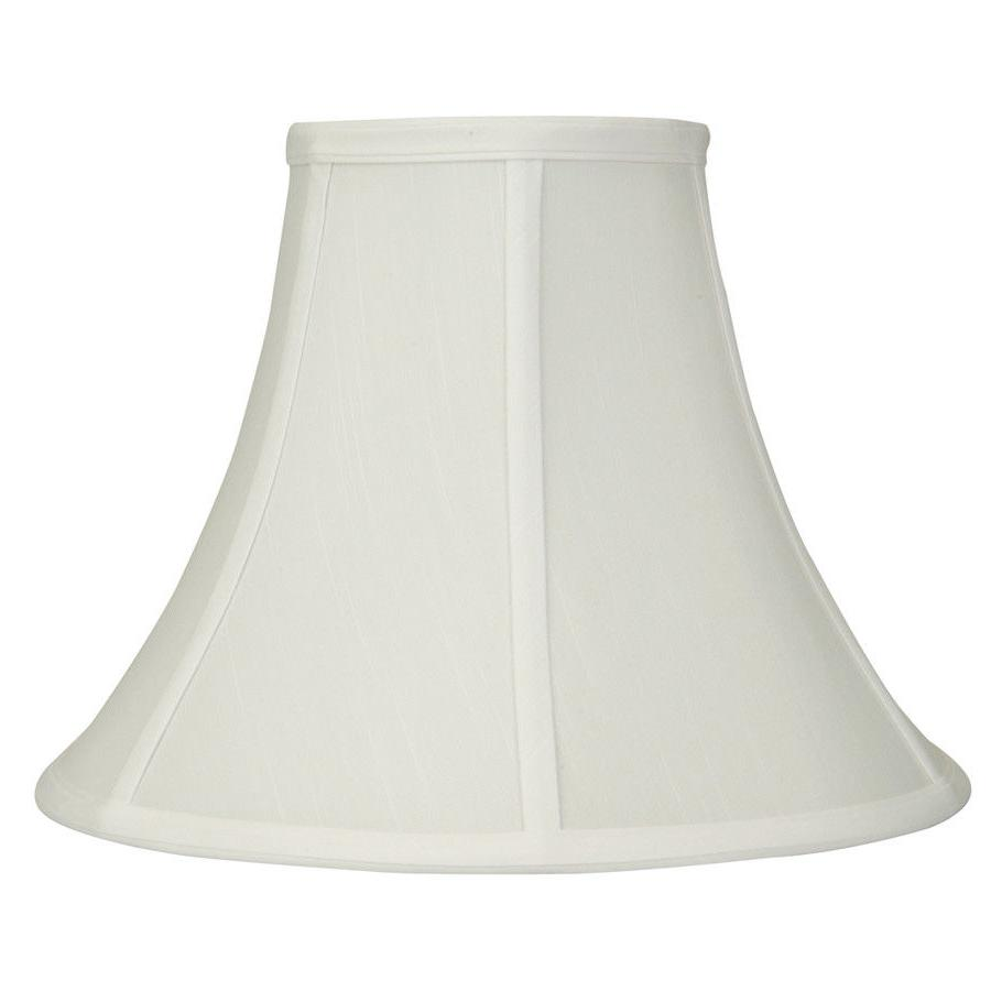 white fabric transitional bell lamp shade standard