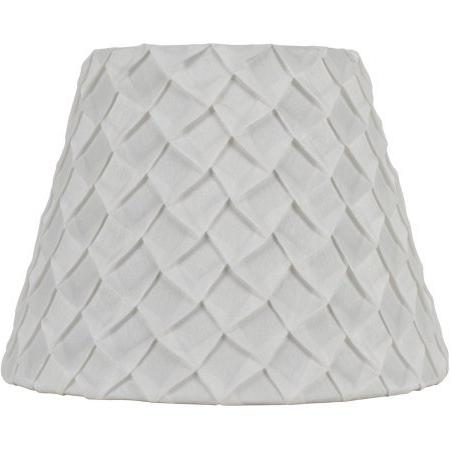 white pleated table lamp shade