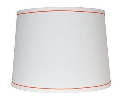 white with trim french drum lamp shade