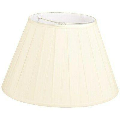 wide pleat empire designer lamp shade n