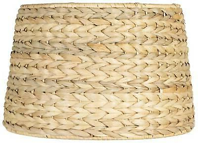 woven seagrass drum shade