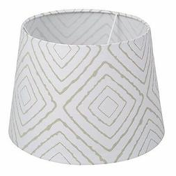 Lolli Living LAMP SHADE Decorative GREY MAZE Pattern 100% Co