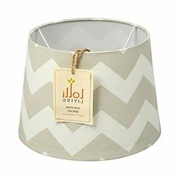 Lolli Living LAMP SHADE Decorative Off White GREY ZIGZAG Pat
