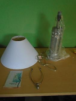 LITE SOURCE LAMP / SHADE #LS-3240 SS/WHT  -  SS / WHT COLOR