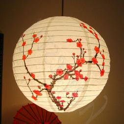 Lamp Shade Paper Lantern Light Chinese Bamboo Plum Blossom R