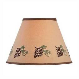 "Lamp Shade - Pinecone Embroidered by Park Designs 10"" & 12"""