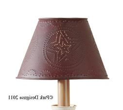 Lamp Shade  - Punched Tin Metal Star in Red by Park Designs