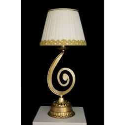 Light Table Lamp Design Classic Leaf Gold With Lampshade Tp