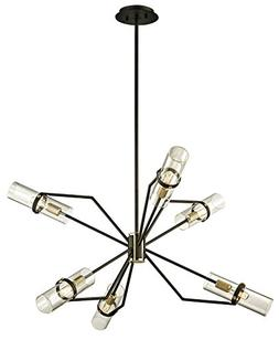 "Troy Lighting F6316 Raef Chandelier 36"" Textured Bronze and"