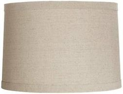 Springcrest Natural Linen Drum Shade 15x16x11