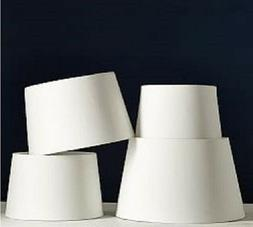 Linen Ivory Tapered drum lamp shades