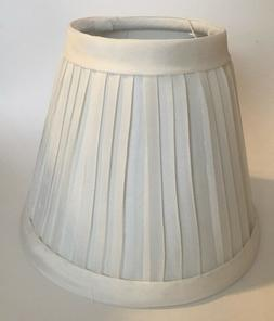 Lot of 6 Candle Lamp CHANDELIER Shades Pleated Cloth Covered