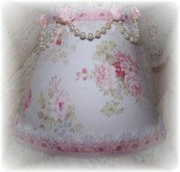 Mary Rose Shabby Cottage PINK ROSES Romantic Chic MINI LAMP