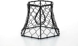 "Metal Chickenwire Hexagon Lampshade 5.75""X4""- , CLE30398"