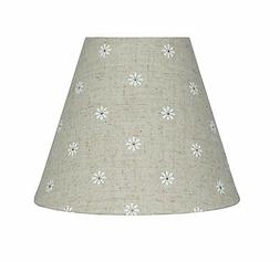 Urbanest Mini Chandelier Lamp Shade, Natural Linen w/ Daisie