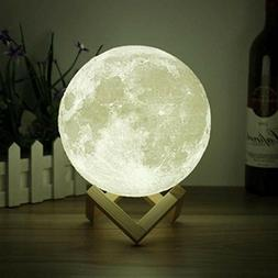 3D Space Moon Light-3D Printing Moon-Stepless Dimmable-Moon