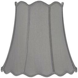 Morell Gray Scallop Bell Lamp Shade 10x16x16