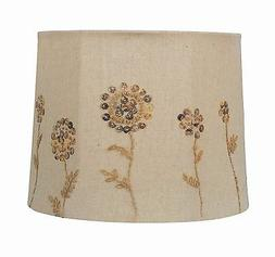 Albert Estate LTD Mother of Pearl Buttons Drum Shade, 12x14x