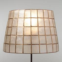 Natural Capiz Shell Accent Lamp Shade w/Gold Trim ~ Fits Uno