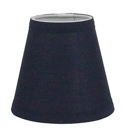 Urbanest Navy Blue Cotton Chandelier Lamp Shade, 3-inch by 6