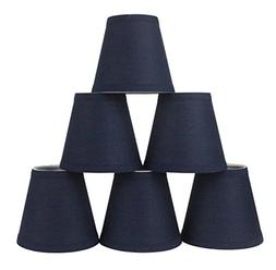 Urbanest Set of 6 Navy Blue Cotton Chandelier Lamp Shade, 3-