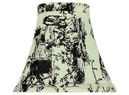"NEW~Aspen Creative~30067~6"" BLACK & WHITE~Bell~Chandelier Cl"