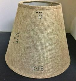 "New 9x5x7.5"" Tan Burlap Lamp Shade For Small/Medium Lamp N"