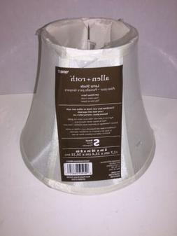 "NEW Allen + Roth Fabric Bell Lamp Shade 5""x10""x8"" OFF WHITE"
