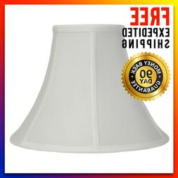 NEW - Allen + Roth Premium White Fabric Bell Light Lamp Shad